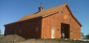 Nebraska Barn with Corrugated Metal Roofing Material