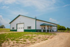 Classic Rib metal roofing and classic rib metal siding on a barn in Illinois