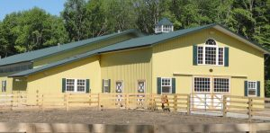 Classic Rib Metal Roofing on Show Horse Barn
