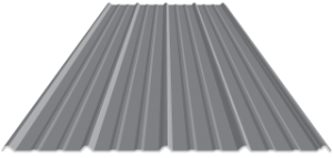 Classic Rib Roofing Metal Material Top View