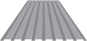 T16 Metal Siding and Roofing Material Top View