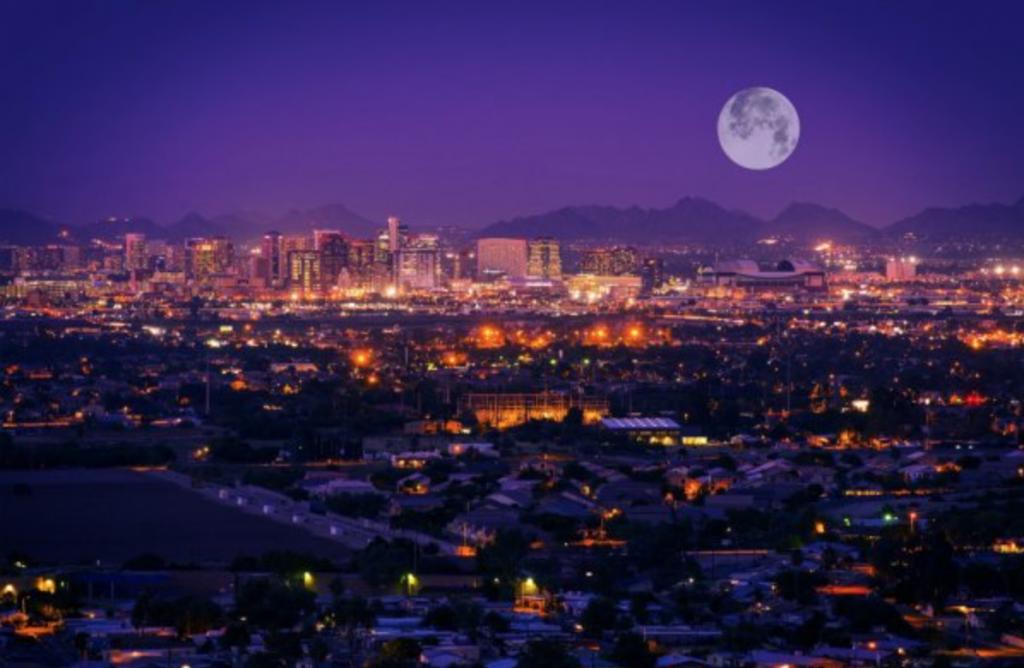 Phoenix AZ Night Time Metal Roofing Supplies