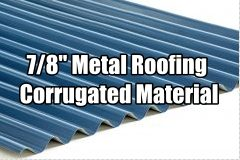 7/8 corrugated metal roofing